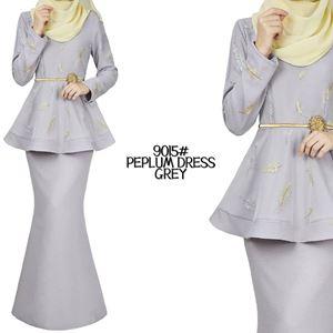 9015# PEPLUM DRESS