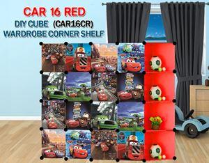 Cars RED 16C DIY Wardrobe with Corner Shelf (CAR16CR)