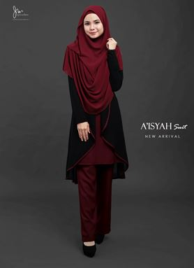 Aisyah Suit ( MAROON ) BATCH 03