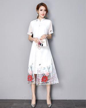 Cheongsam Stitching Dress