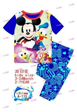 @   A-155 ( P10194P )  MICKEY BLUE SLEEPWEAR ( SZ 2-7Y  )