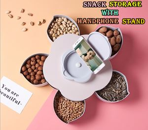 SNACK STORAGE WITH HANDPHONE STAND