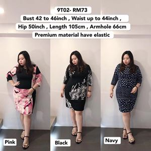 9T02 Ready Stock *Bust 42 to 46 inch/ 107-117cm