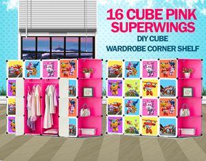 SuperWings Pink 16C DIY Cube W Corner Rack (SW16CP)