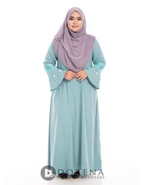 ADHANIE Jubah Mint Blue