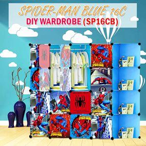 Spider-Man Blue 16C DIY Wardrobe w Corner Rack (SP16CB)