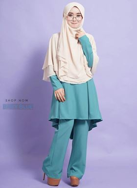 SUIT SAWDA (BABY BLUE)