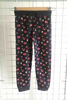 [SIZE 1Y - 2Y] Jogger Pant Flower Black : Size 1y-6y (1 - 6 tahun) TW