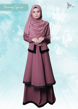 KURUNG  SYARI 06 (PURPLE CHERRY)