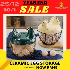 READY STOCK CERAMIC EGG STORAGE
