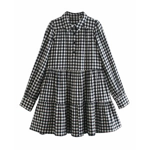 BLACK AND WHITE SMALL FLANNEL TUNIC
