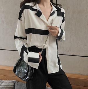 Korean Line Pattern Shirt