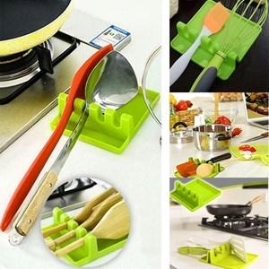 Kitchen Multi-Function Plastic Shovel Rack - Green Color