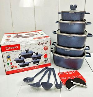 dessini 22pcs Square High Quality Cookware Premium Kitchenware Casserole Granite Set