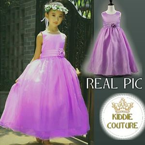 PURPLE TRAILING CLAIRA BALL GOWN