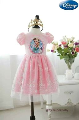 Frozen Dress - Elsa Pink