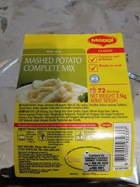 Mashed Potato Complete Mix 2.5kg