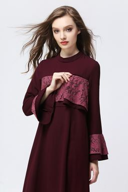 DOUBLE LAYER EXCLUSIVE JUBAH - MAROON