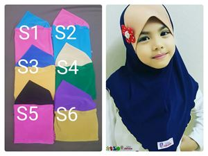 Clearance: RM15 shj Size L: Brand LITTLE DARIENA 🥰Tudung Ceria ( LD Sport )
