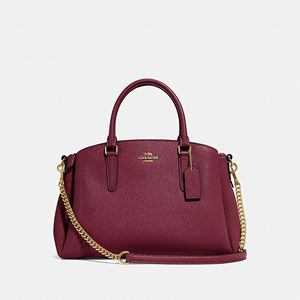 COACH Sage Carryall WINE/IMITATION GOLD