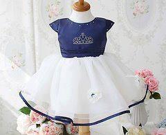 Blue Crown Princess Dress