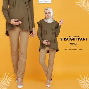 Maternity Straight Pant Furby Moms -  Khaki