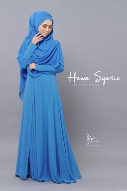 JUBAH HAWA SYARIE (OCEAN BLUE)