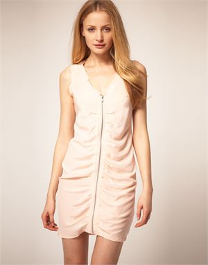 Dress Gallery Silk Rouched Day Dress