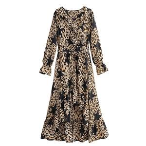 STAR LEOPARD PRINTED DRESS