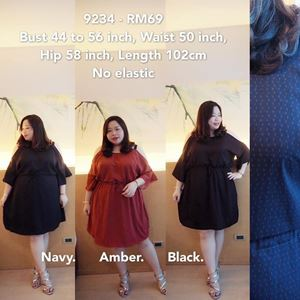 9234 *Ready Stock* Bust 44 to 56 inch/ 112-142cm