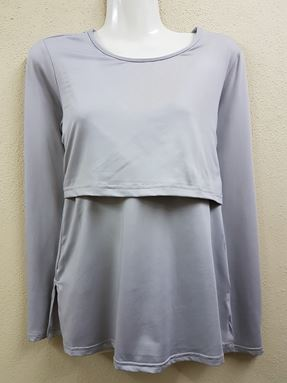 Long Sleeve Inner (Nursing Friendly) Light grey