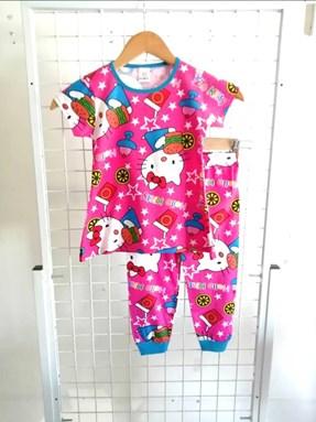 Pyjamas HELLO KITTY STAR PINK :  Big Size 12 -18