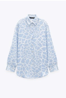 WHITE AND BLUE LEOPARD PRINTS TOP