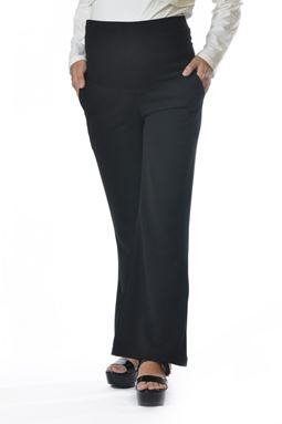 Maternity Wide Leg Pant Mi - Black