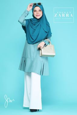 BLOUSE ANGGUN ZARRA ( DIAMOND BLUE  )