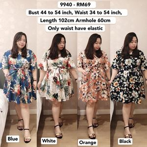 9940 Ready Stock  *Bust 44 to 54inch/ 112-137cm