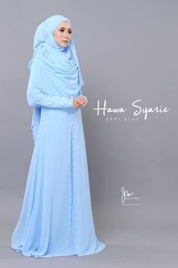 JUBAH HAWA SYARIE (BABY BLUE)