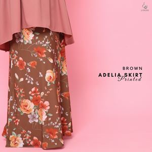 Adelia Skirt Printed : Brown