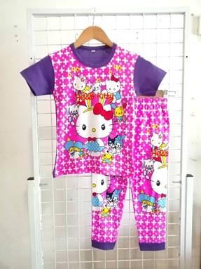 Pyjamas Short Sleeve HELLO KITTY PLUS Purple (Kids 2 )