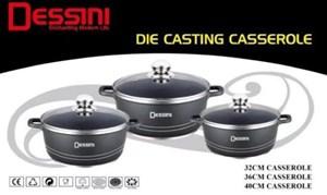 DESSINI 6PCS DIE CASTING CASSEROLE PERIUK RENDANG 3 BERADIK preorder eta 19/1