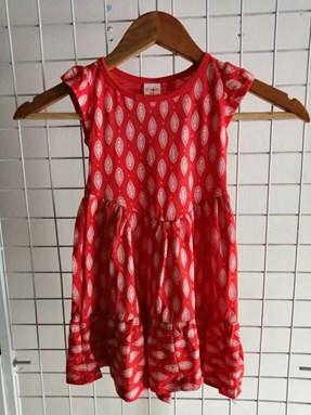 Princess Dress V2 : RED INDIE , size 4-6