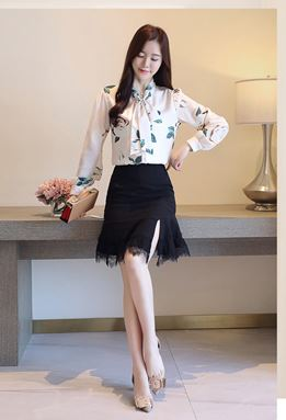 Floral Chiffon Long-Sleeve Shirt