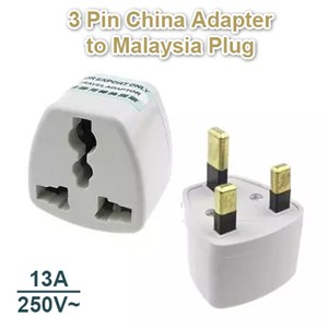 3 Pin China Adapter Converter Travel UK Plug Socket to Malaysia Plug
