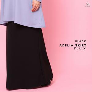 Adelia Skirt Plain : Black