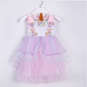 ANNAPINKIE PINK UNICORN EMBROIDERY GOWN