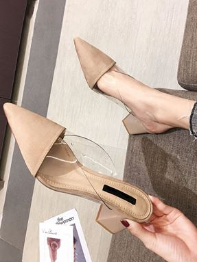 Korean Thick Pointed High Heels