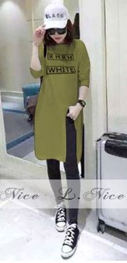 Top T-shirt For Mommy - Olive Green