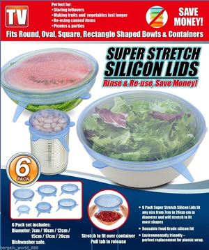 Super Stretch Silicon Lids ( 6 pack )