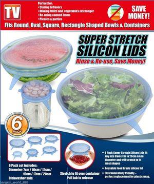 Super Stretch Silicon Lids ( 6 pack )