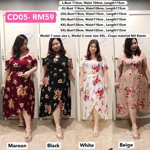 CD05 *Bust 45 to 51 inch/ 113-130cm